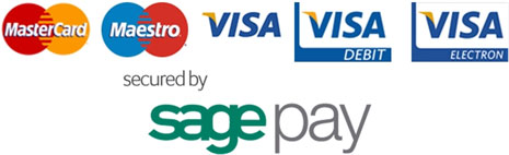 MasterCard, Maestro, Visa - Secured by SagePay