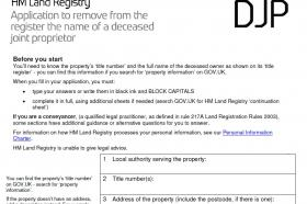 A photo representing Remove deceased owner from title (HMLR Form DJP)